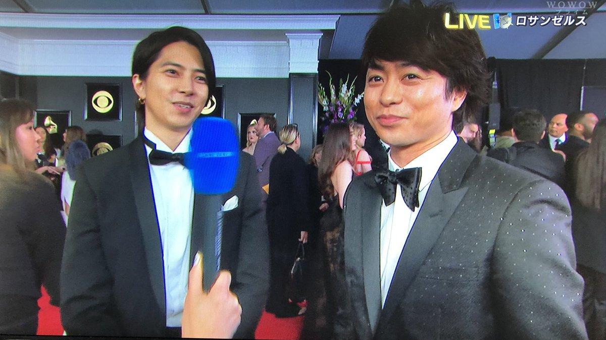 嵐・櫻井翔と山下智久が「グラミー賞」レッドカーペットで豪華共演 ゼッドも飛び入りで奇跡の3ショットも