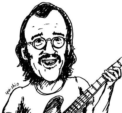 Carl Radle caricature likeness