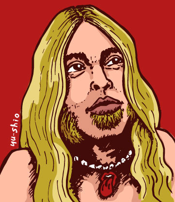 Gregg Allman caricature likeness