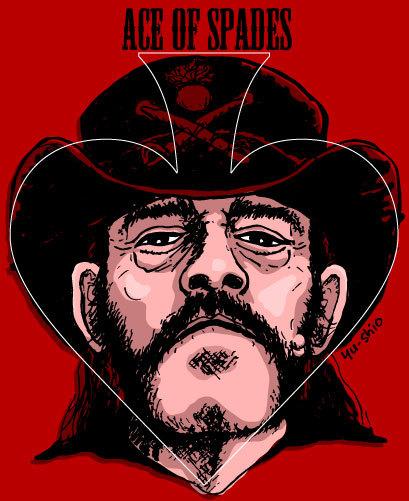 Lemmy Kilmister Motorhead caricature likeness