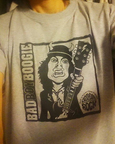 Angus Young AC/DC T Shirt caricature