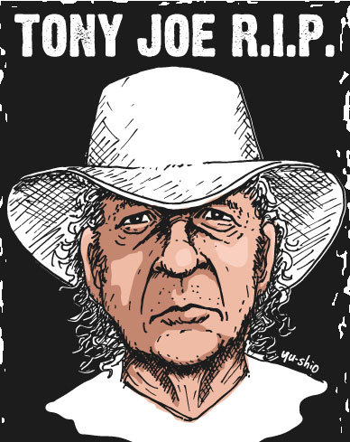 Tony Joe White caricature likeness