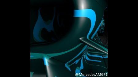 メルセデスF1新車W10のホイールデザイン