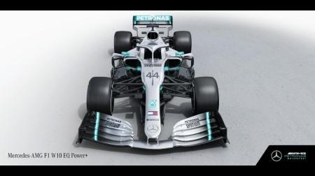 メルセデス、2019新車「F1 W10 EQ Power+」を発表