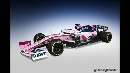 レーシングポイントが2019カラーリングを発表