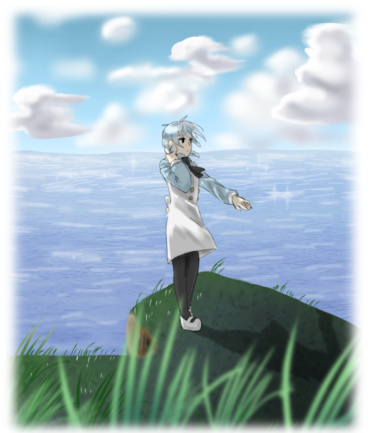 湖とミクちゃん