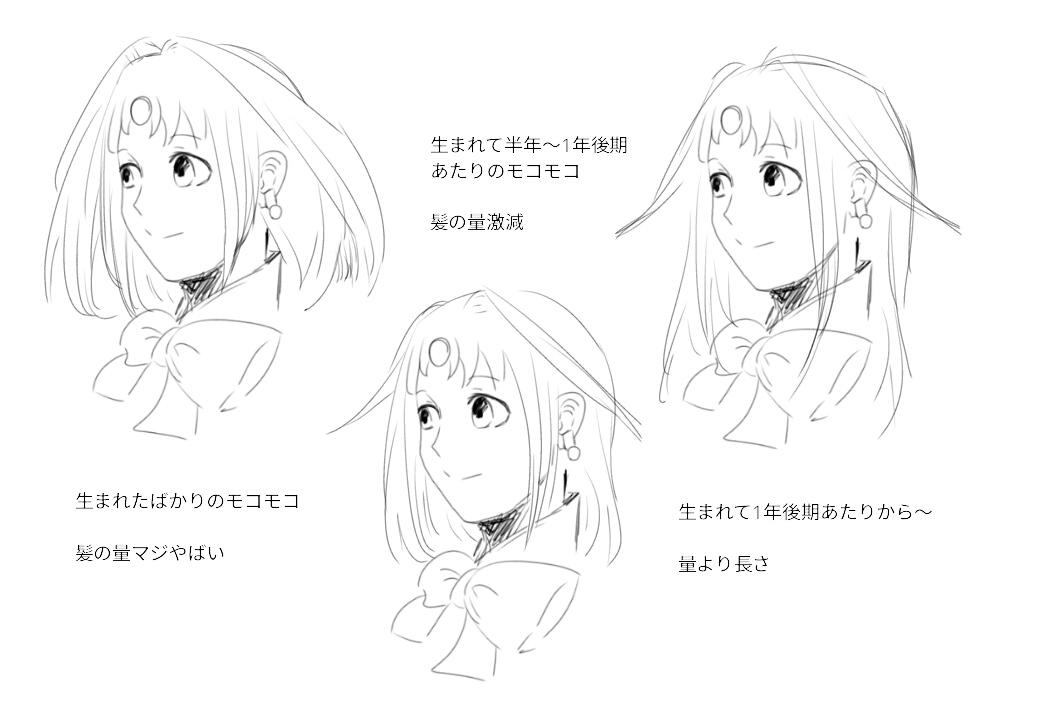モコモコ髪