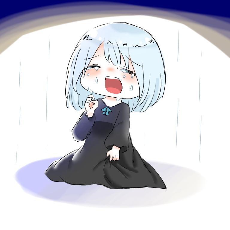 泣いてるミライちゃん