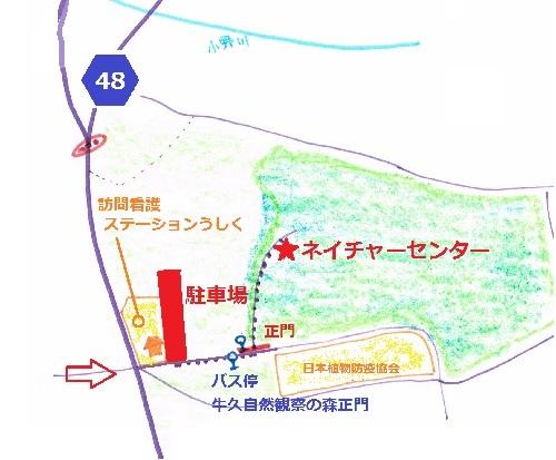 牛久自然観察の森地図