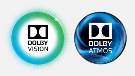 「Dolby Vision」と「Dolby Atmos」ロゴ