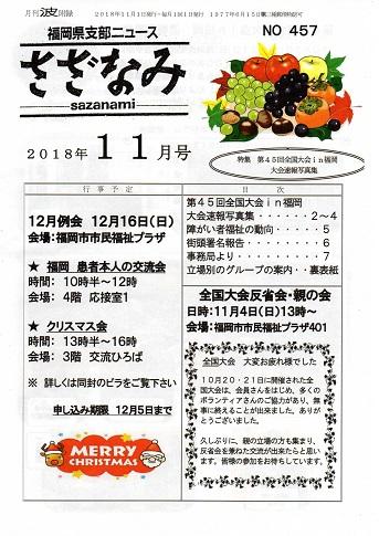 福岡県支部ニュース11月号表紙