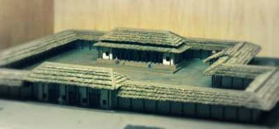二里頭遺跡1号宮殿復元 (洛陽博物館)