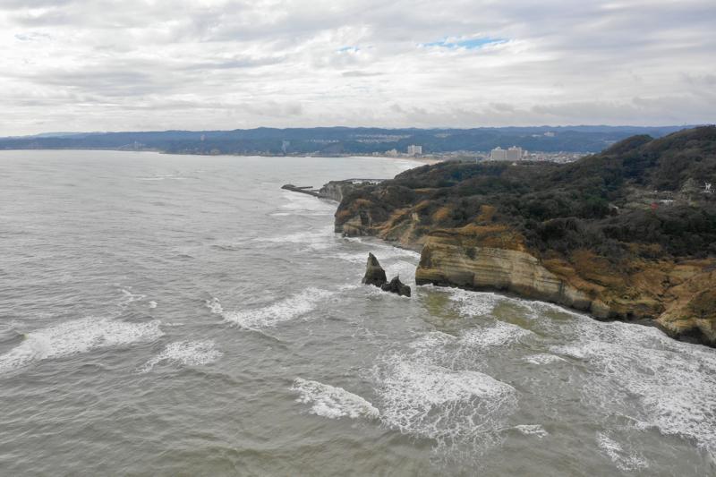 房総 御宿 大波月海岸 ローソク岩の裏の裏
