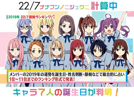 『22/7 計算中』第28回放送 キャラクター7人の誕生日・星座が判明