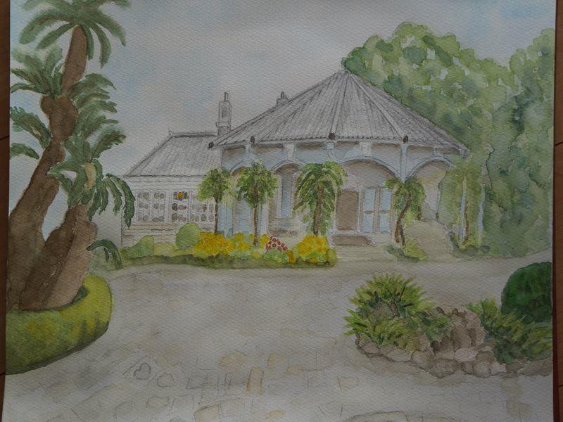 グラバー邸の水彩画