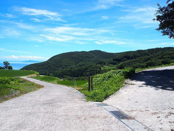 岩首昇竜棚田への道
