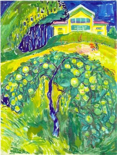 ムンク 庭のリンゴの樹