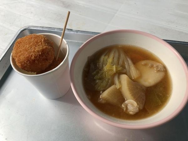 2018-11-04 芋煮とライスコロッケ