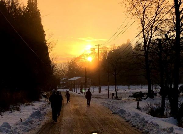 2019-01-01 夕焼けのような初日の出