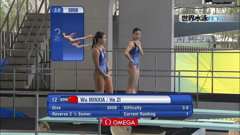 2011世界水泳 飛込女子3Mシンクロ予選