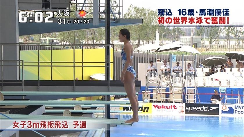 2011世界水泳 女子飛板飛込3M予選・準決勝1