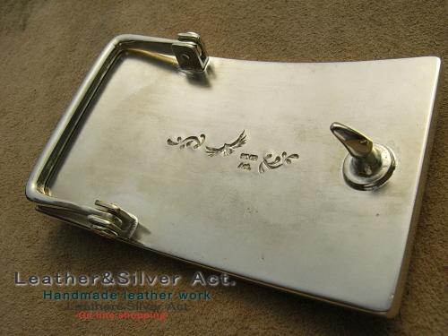 オーダーバックル 純銀 製作