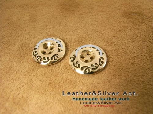 シルバー925 ボタン 銀
