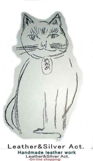 オーダーメイド ネコのネックレス