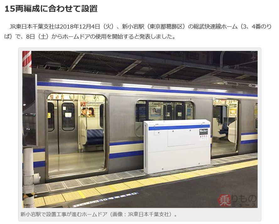 新小岩駅について②