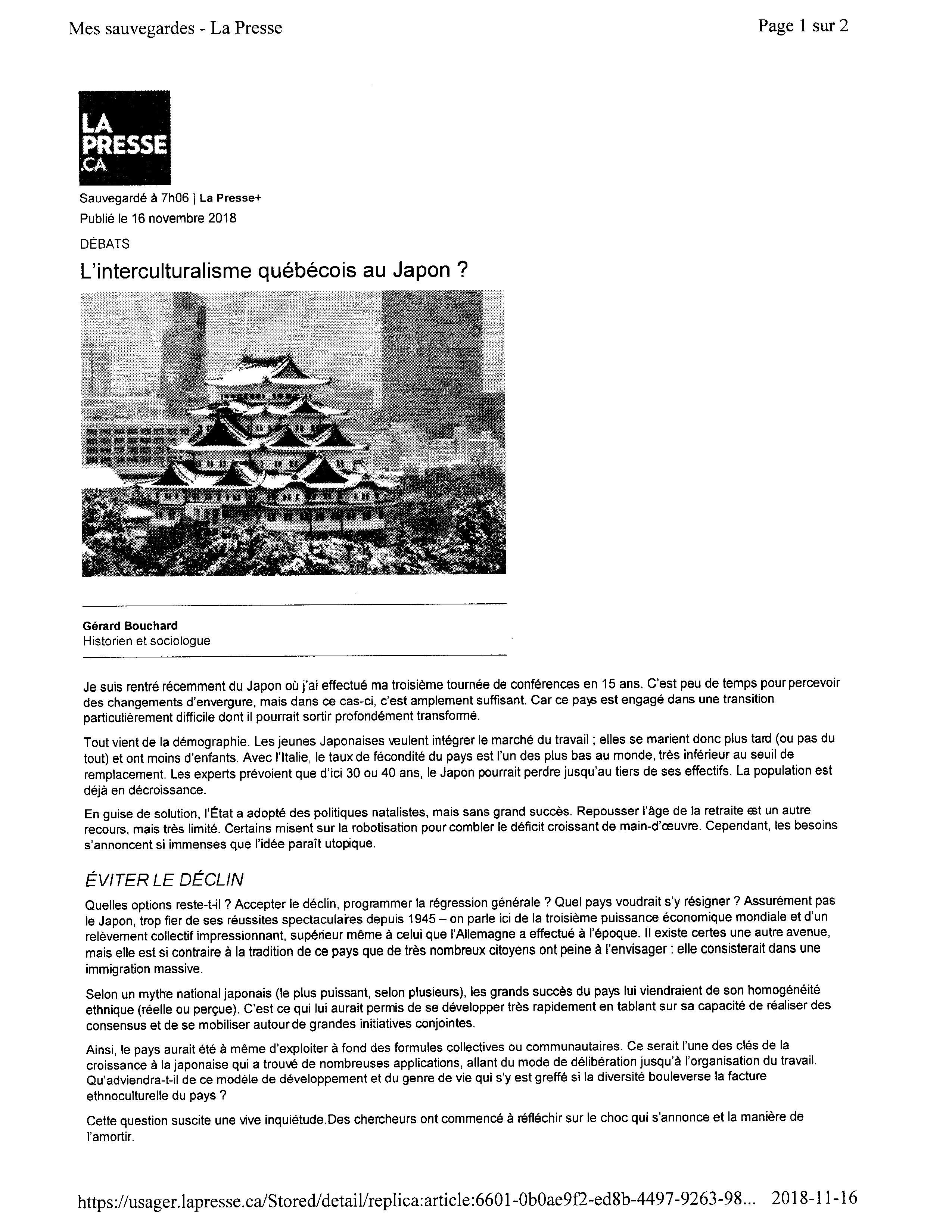 La Presse-16-11-18- texteImage_ページ_1