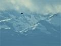 青葉山から見た雪の蔵王