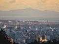 青葉山から見る金華山