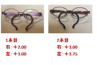 メガネ2本比較1123 - コピー