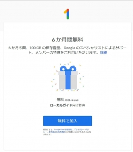 GoogleOne初期画面