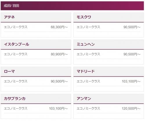 カタール航空 ヨーロッパが68,300円(諸費用込み)から ホリデーシーズン用の特別価格1