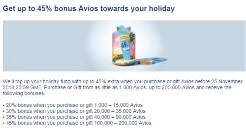 ブリティッシュ・エアウェイズ・エグゼクティブクラブ Avios購入で45%ボーナスAvios