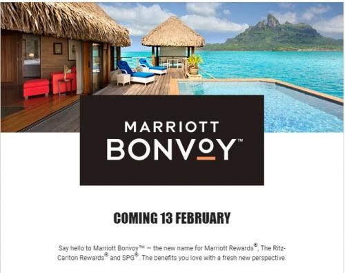 2019年2月13日にマリオットリワードがMarriott Bonvoyに正式に変更になります。
