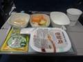 2度目の機内食