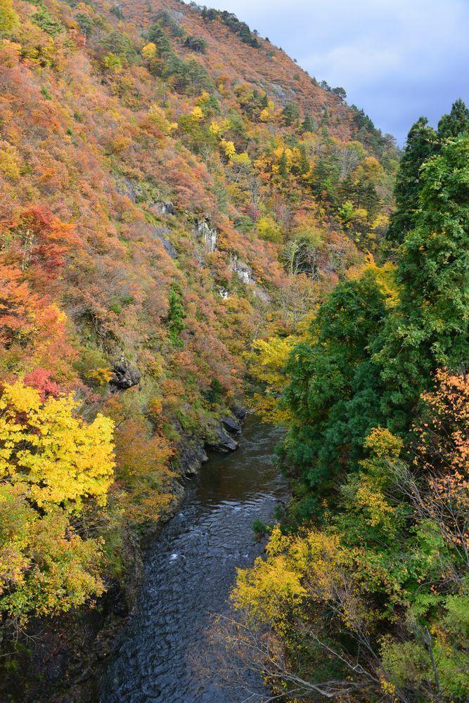 渓谷の紅葉-2