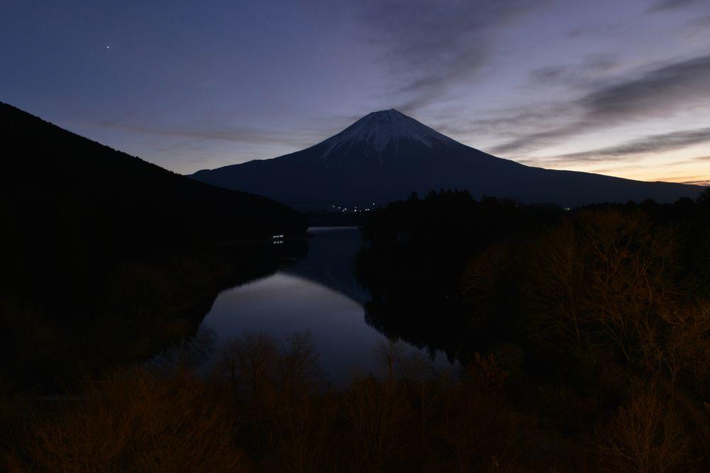 田貫湖の夜-4