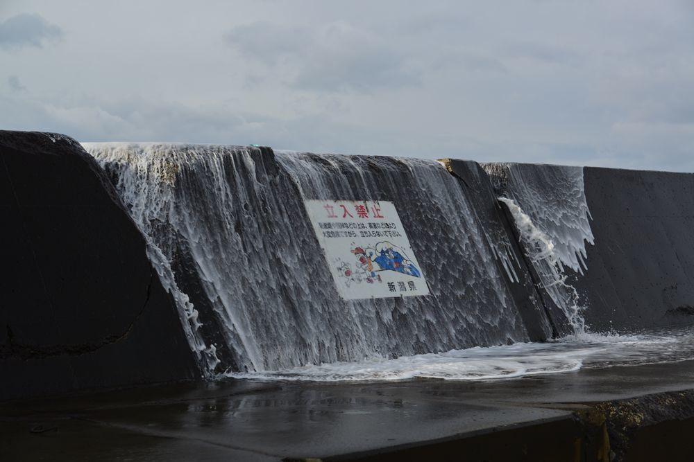 冬の防波堤-5