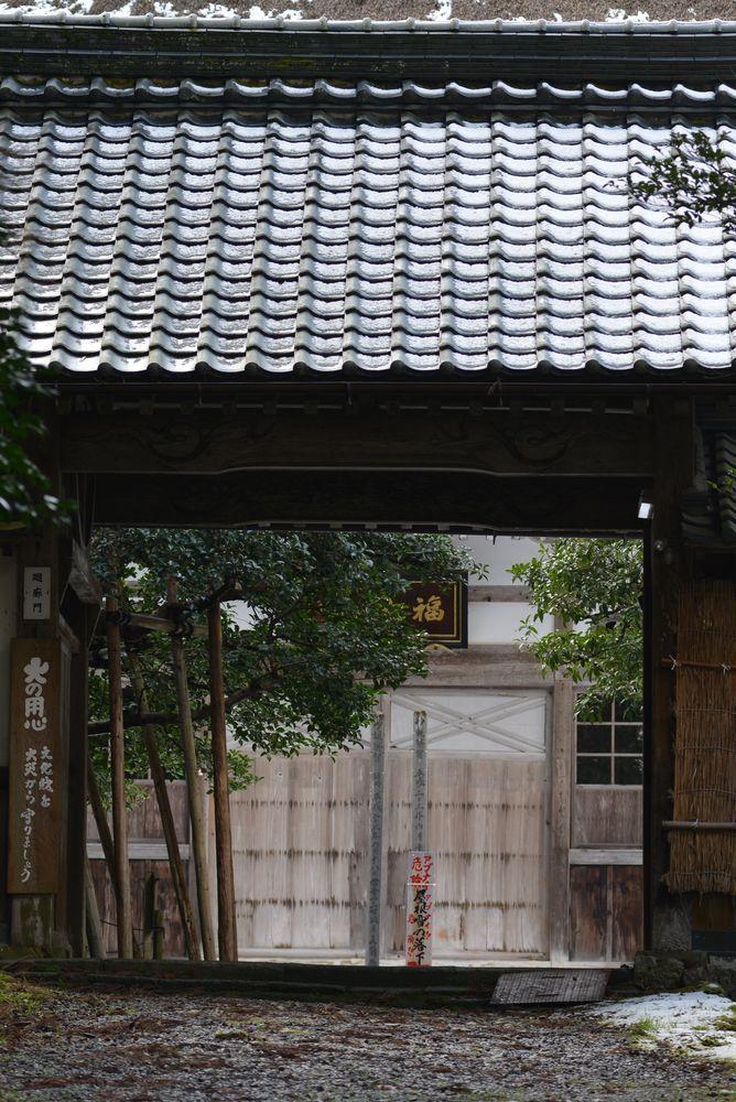 種月寺の屋根に-2