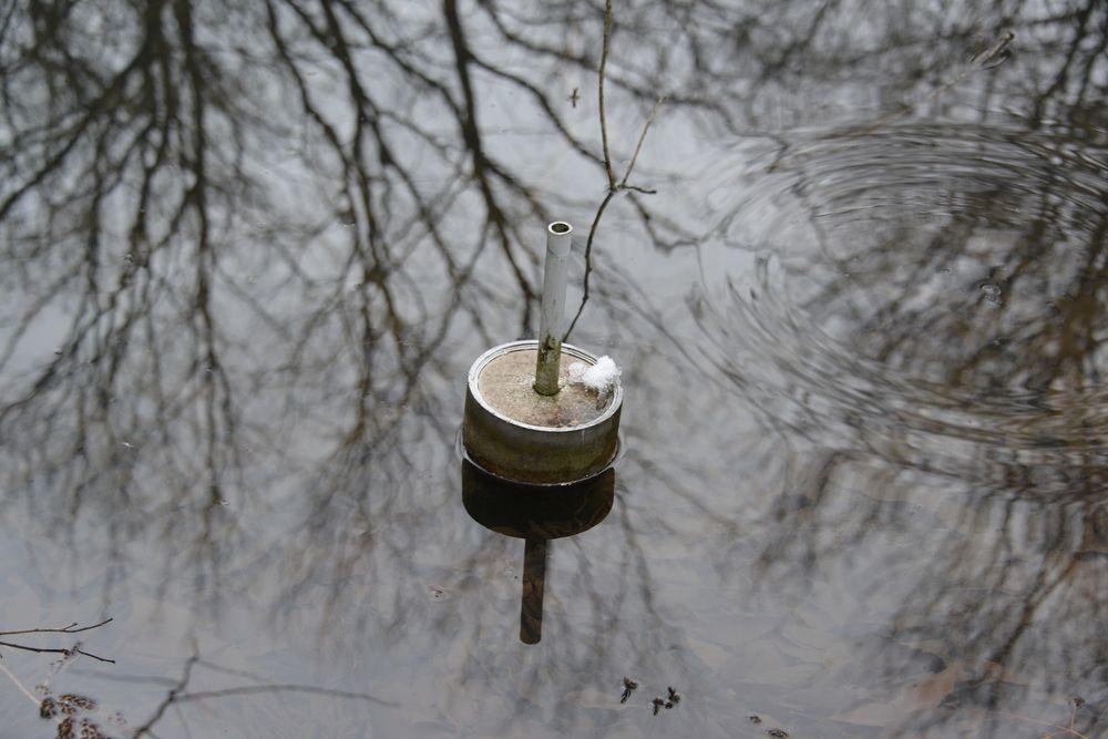 雪の池-7