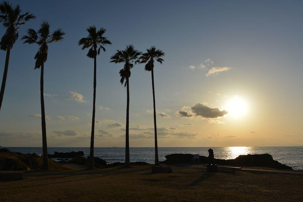 野島崎の夕陽-1