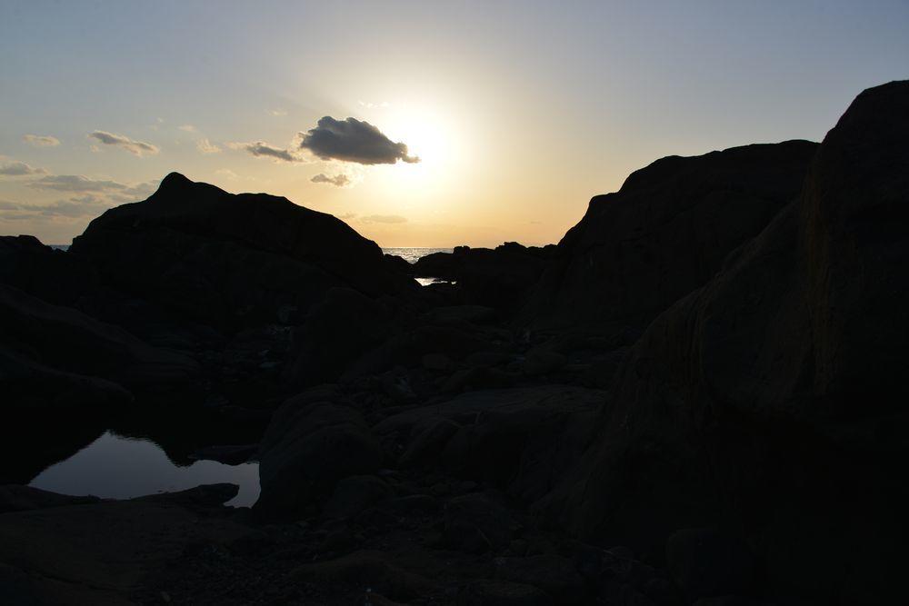 野島崎の夕陽-3