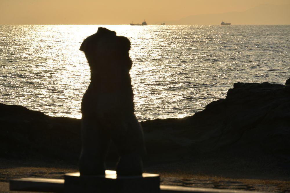野島崎の夕陽-4