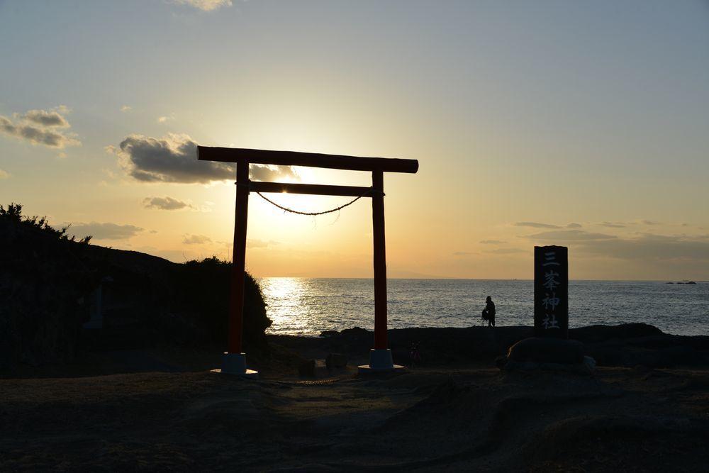 野島崎の夕陽-5