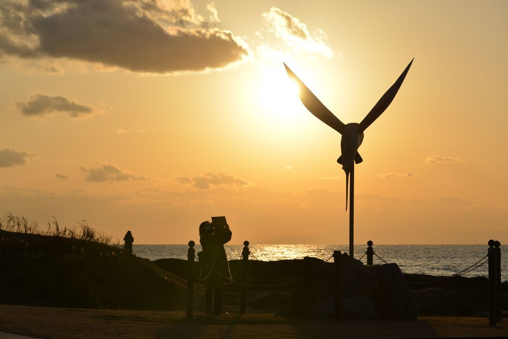 野島崎の夕陽-6