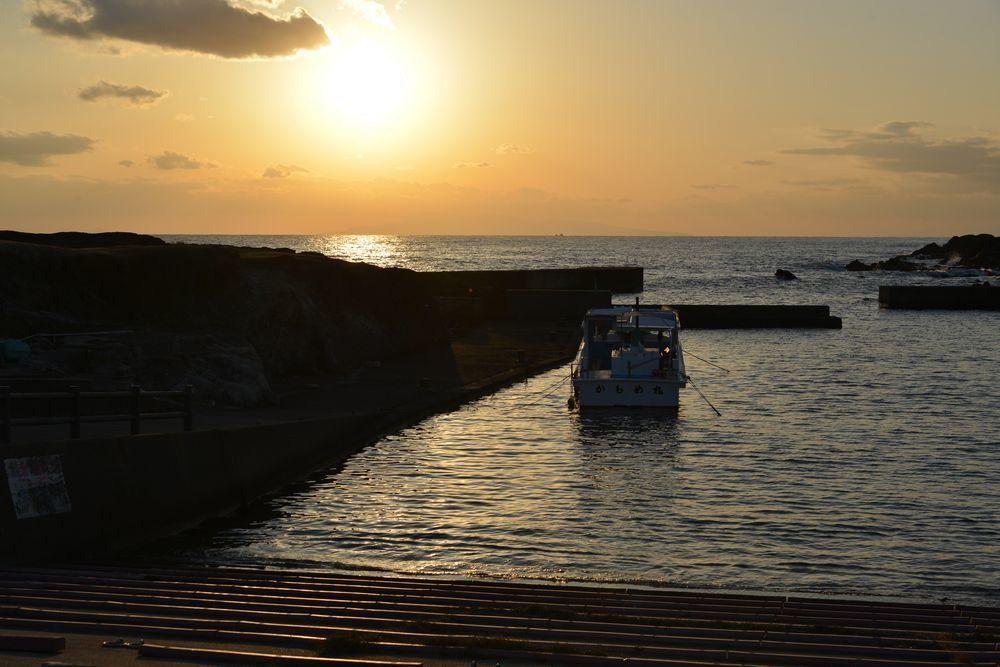 野島崎の夕陽-7