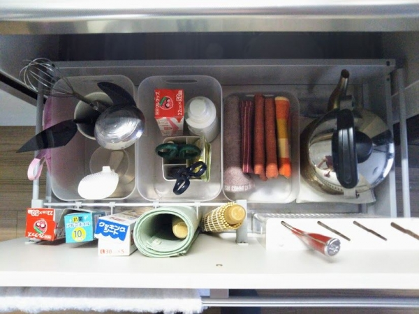 キッチン 深い引き出し収納 無印グッズ2